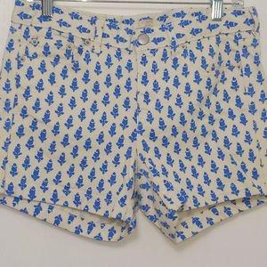 J.CREW White Denim Stretch Shorts